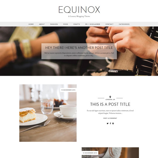 Blogger Template: Equinox