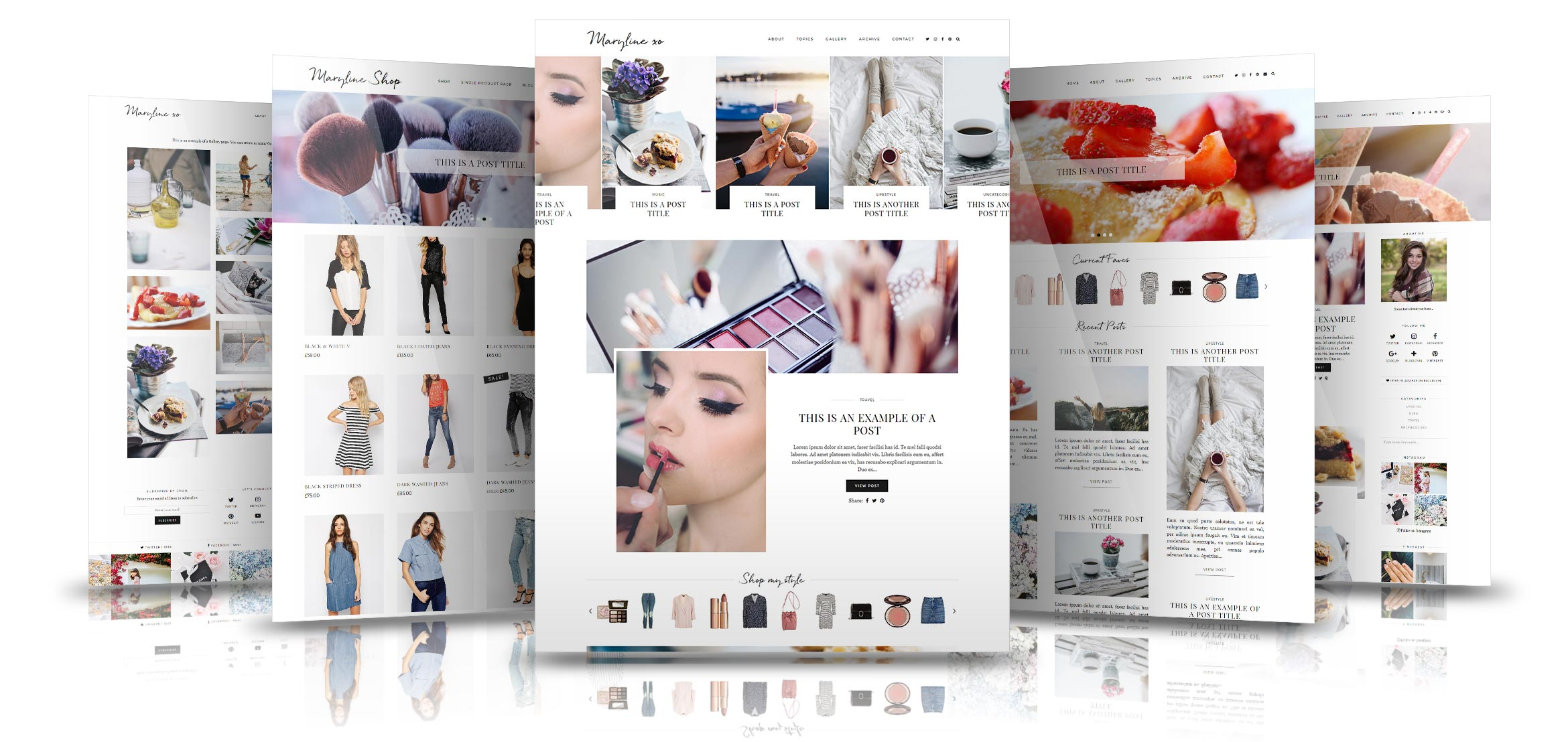 maryline modern and stylish wordpress theme by pipdig