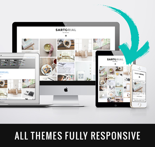 All of our Blogger templates and WordPress themes are designed to be mobile friendly