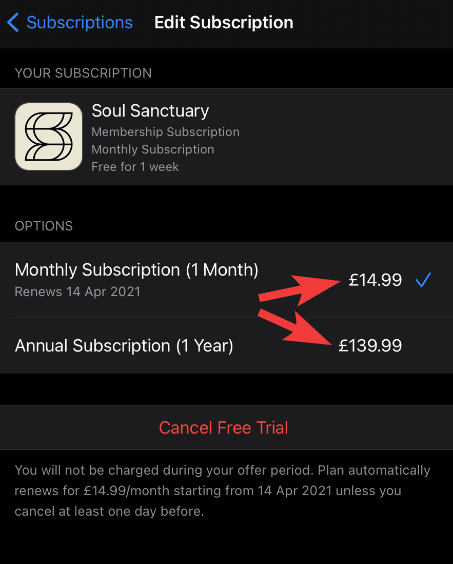 Switch subscription