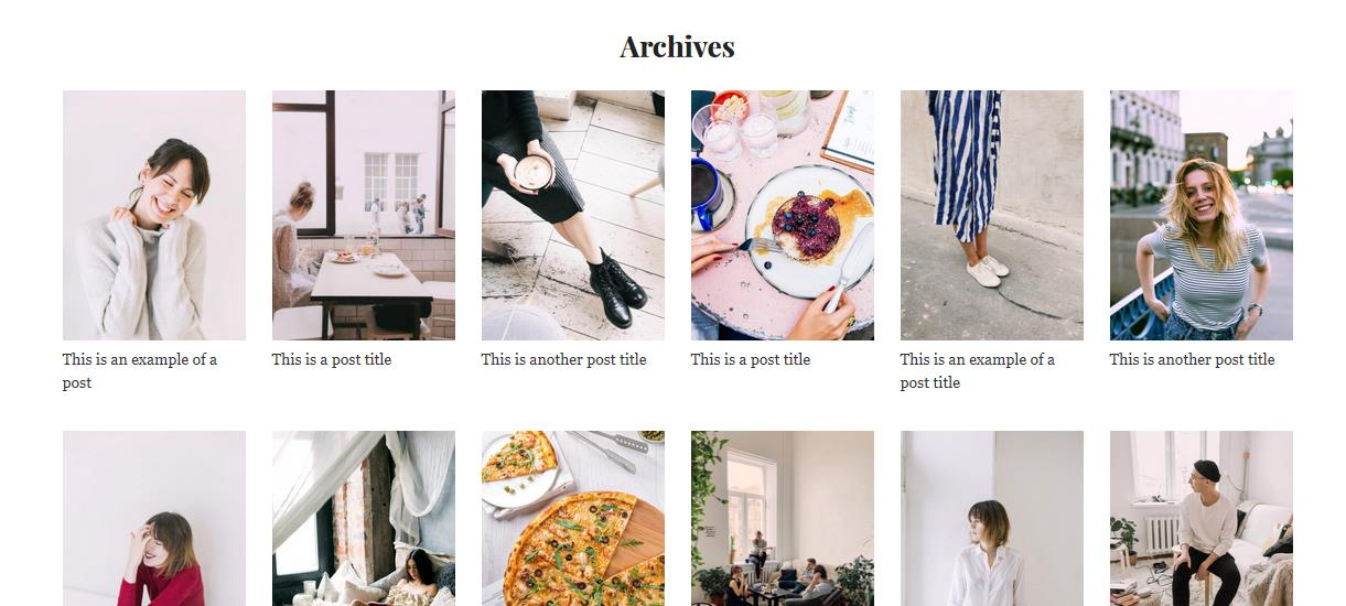 WordPress image archives