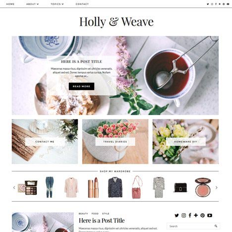 Blogger Template: Holly & Weave