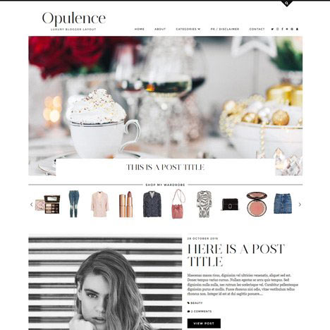 Blogger Template: Opulence